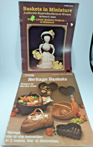"""""""Baskets in Miniature"""" and """"Heritage Baskets"""" Basket Pattern books"""