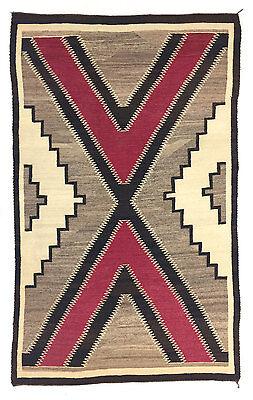 """Navajo Ganado Rug, circa 1930, 85"""" x 54"""""""