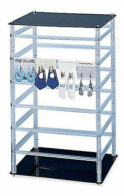 Medium Rotating Jewelry Card Rack - 10w X 10l X 17h - Holds 96 2w Earring Cards