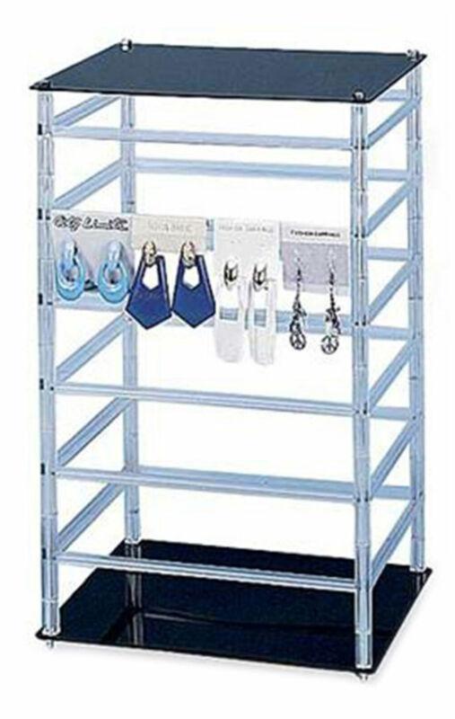 "Medium Rotating Jewelry Card Rack - 10W x 10L x 17H - Holds 96 2""W Earring Cards"