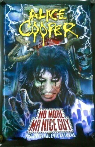 "ALICE COOPER  / Original Poster # 3118 / Exc. New  cond. / Size 24 X 36"""