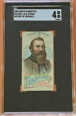 1889 N78 DUKE HISTORIES OF GENERALS BOOKLETS J.E.B. Stuart (SGC 4 VGEX)