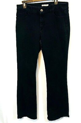 Riders by Lee Womens Size 14 Black Jeans Mid Rise Bootcut Cotton Blend ()