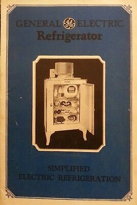 General Electric 1927-29 GE Monitor top refrigerator booklet shows entire line