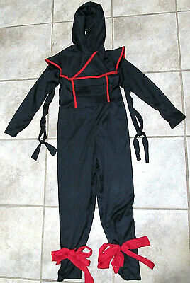 Japanese Costume For Boys (Samurai Ninja Boys Japanese Martial Arts Warrior Kids Childs Costume Fits 4 5 )