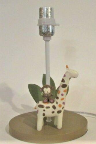 Nursery Giraffe and Monkey Lamp Kids or baby