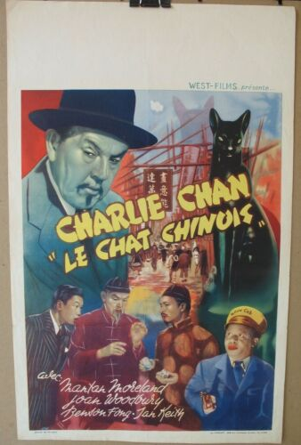 CHINESE CAT (1944) Original Release Belgian Poster, Charlie Chan, Sidney Toler