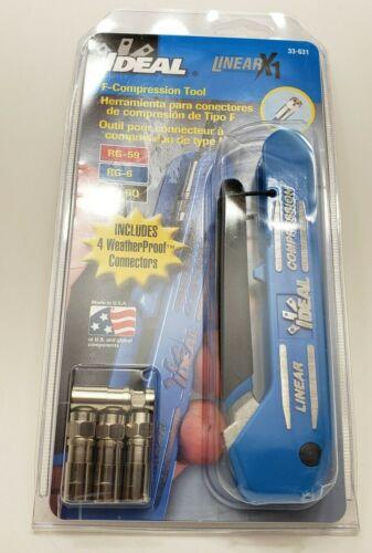 Ideal 33-632 F-Compressio Tool F-Conn Adjustable For F/Bnc/Rca) NIB