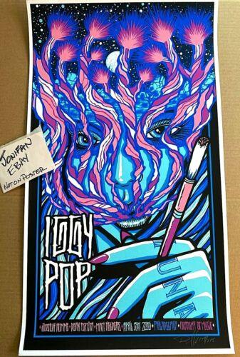 Iggy Pop Philadelphia PA 2016 Brad Klausen Screen Print Poster Signed S/N #/275