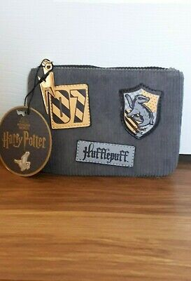 HUFFLEPUFF - HARRY POTTER - PURSE / POUCH / WALLET with PATCHES - RRP £8 - NEW!!