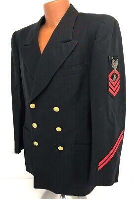 Vintage US Navy Chief Fire Controlman Dress Blue Jacket