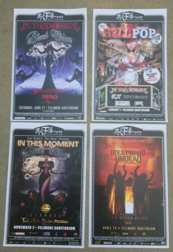 IN THIS MOMENT (4) Different Fillmore Denver, Colorado 11x17 Promotional Posters