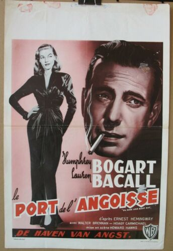 TO HAVE AND HAVE NOT (1944) Belgian Re-Release Poster, Bogart, Bacall, Hawks