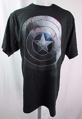 Marvel Licensed Men's Captain America Beaten Shield The Winter Soldier T-Shirt
