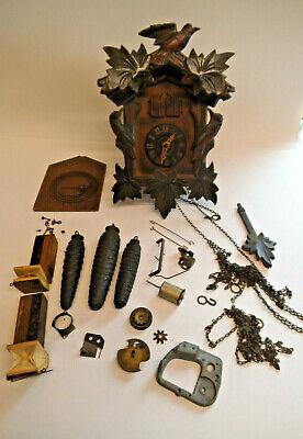 Vintage Cuckoo Clock  G M Angem For Restoration Or Spares
