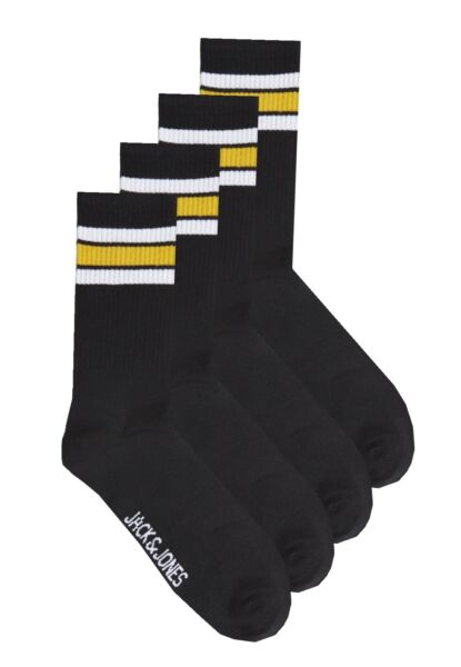 JACK JONES Mens Jacwind Tennis Sports Crew Socks Black /> Size UK 6-11 EU 40-46