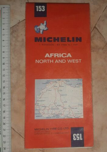 1970 Michelin Vintage ROAD map 153 AFRIQUE AFRICA NORTH WEST CHART PLAN DRIVE
