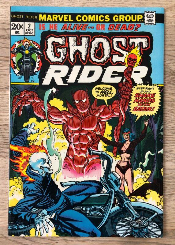 Ghost Rider #2 VF+ 8.5 (Oct 1973)1st App Son of Satan AKADaimon Hellstrom