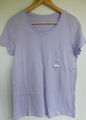 NWT GAP Women's Favorite Crew Neck T-Shirt Purple Lotus Sizes XS S M NEW