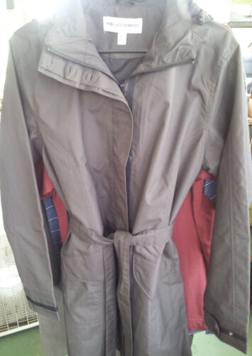 Port Authority~GATORADE~ Trench Rain Coat Sz. L Brown Hook~FREE Shipping