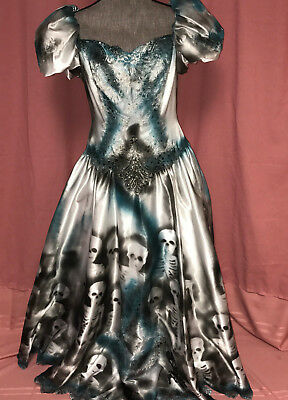 Corpse Bride Cosplay (Day the Dead corpse bride wedding dress COSTUME Halloween cosplay OOAK size 10)