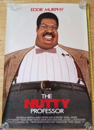 AUTHENTIC NUTTY PROFESSOR EDDIE MURPHY Movie POSTER Original Double Sided 27x40