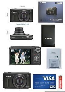 Canon PowerShot SX240 (HD, 20x optical zoom, 25 mm wide lens)