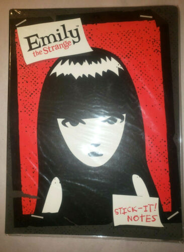 Emily the Strange ESP 2003 NEW Stick It Notes 8 Designs NEW SEALED OLD STOCK!