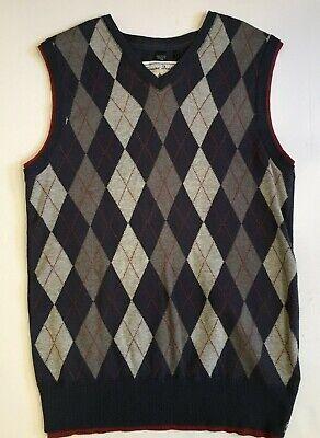 Buffalo by David Bitton 80% Cotton / 20% Wool Argyle Sweater Vest Men's Medium