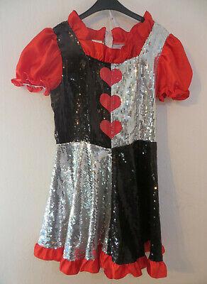 PartyHits ° Karneval Kostüm Kleid mit Pailletten Gr. 38 rot Fasching - Rotes Motto Party Kostüm