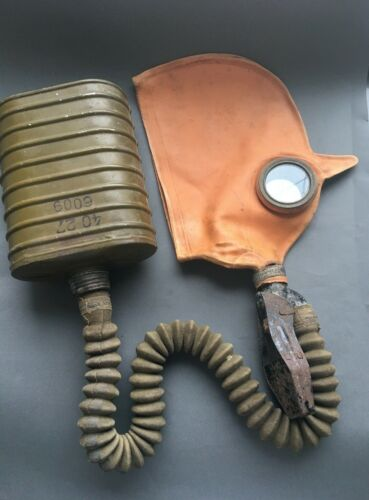 EXTREMELY RARE WWII Original Gas Mask БН Т-5 Helmet-Sh-1(Ш-1) RKKA Stamp 1940