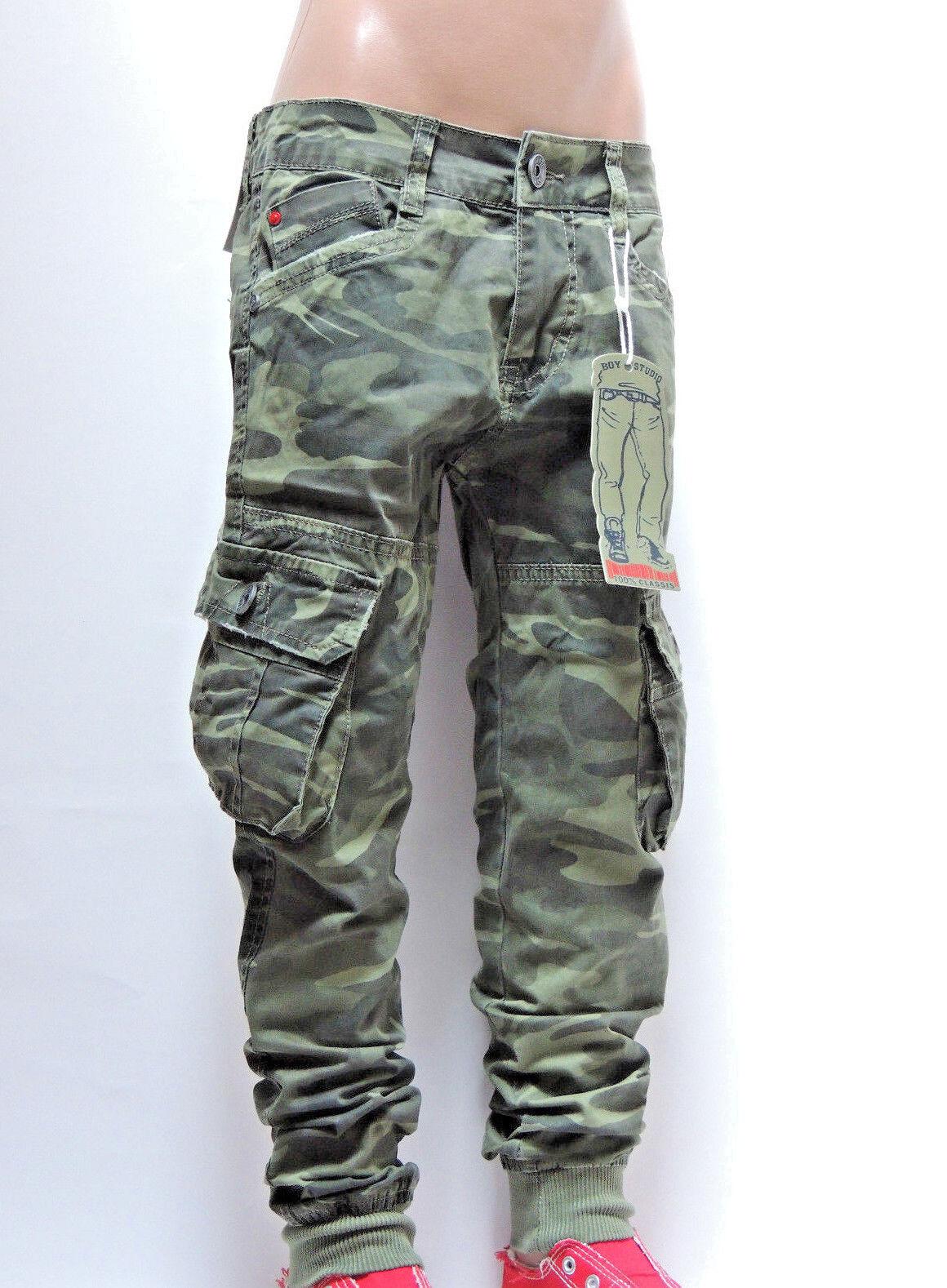 HY-5895 JungenJeans KinderJeans CamouflageHose~SchnäppchenCorner~Gr.6-16 Neu K30
