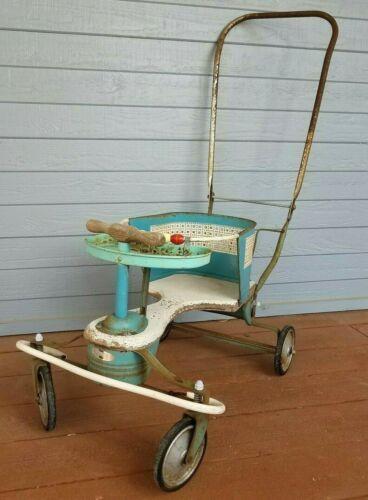 Vintage Rare Taylor Tot Metal Stroller Walker Original 1950s