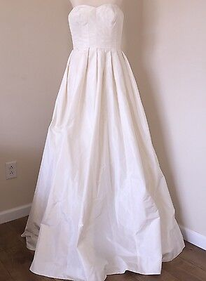 JCREW $1800 SILK TAFFETA MARLIE WEDDING BALL GOWN 6 IVORY DRESS A9925