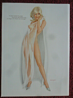 Alberto Vargas Sexy Girl Magazine Pin-Up ART ~ Love Me and Leave Me