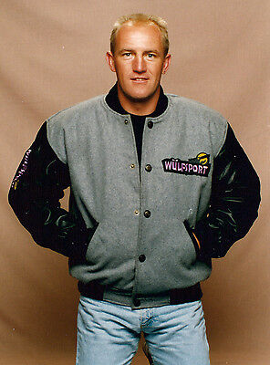 Wulfsport Jacket Leather Wool American Letterman Retro Motorbike Leisure XXL