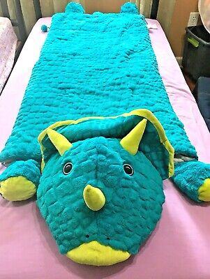 Dinosaur Slumber Bag (Kids Faux Fur Dinosaur Animal Slumber Sleeping Bag 56