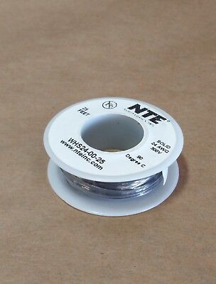 25 Ft Spool Nte Whs24-00-25 24 Awg Solid Hook Up Wire 300v Black