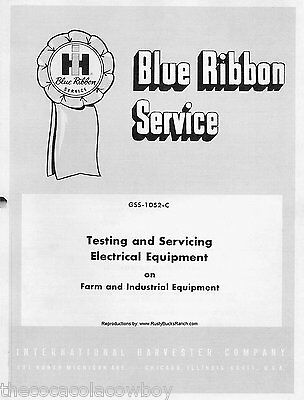 Ih Farmall Tractors Electrical Equipment Service Testing Manual Gss-1052-c