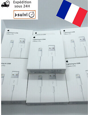 Apple Câble Lightning vers USB (1m) - Blanc (MD818ZM/A) 5/6/7/8/X/11