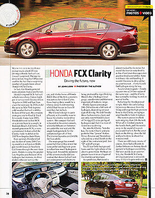2009 Honda FCX Clarity Case Car Review Print Article J361