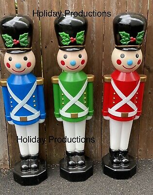"42"" Lighted Christmas Toy Soldier Blow Mold Display Figure New"