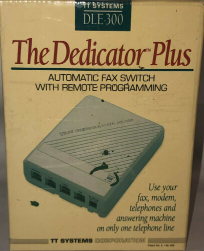 NEW THE DEDICATOR PLUS Automatic Fax Switch REMOTE PROGRAMMING  DLE 300