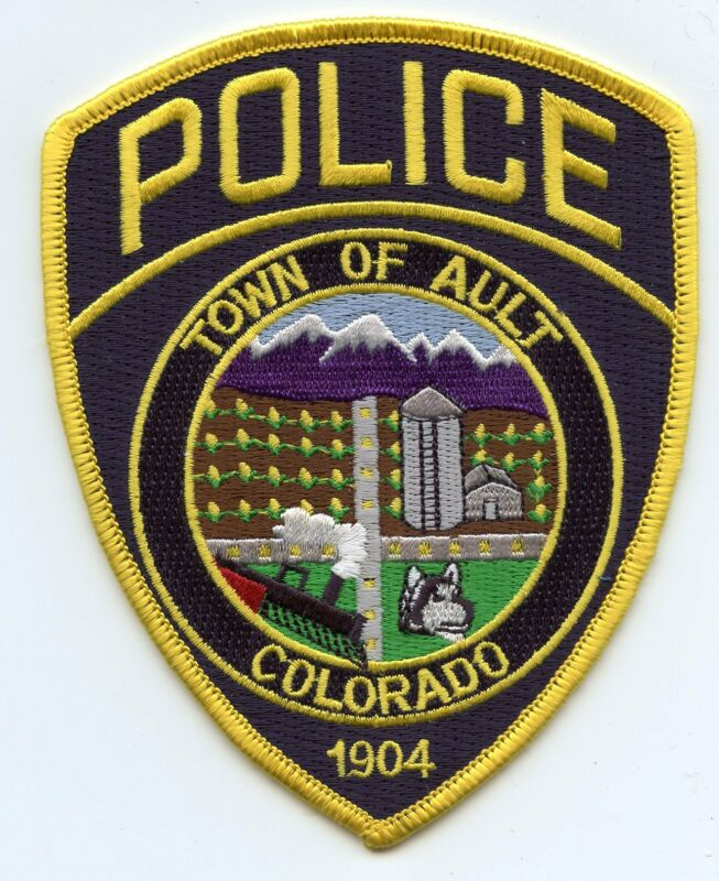 AULT COLORADO CO colorful POLICE PATCH