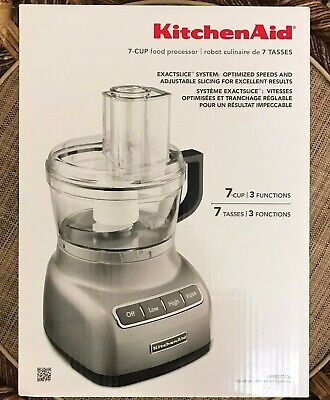 NEW KitchenAid KFP0711CU 7-Cup Food Processor 3 Functions Contour Silver
