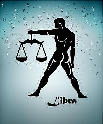 Sticker decal zodiac astrological astrology sign car transparent scales libra