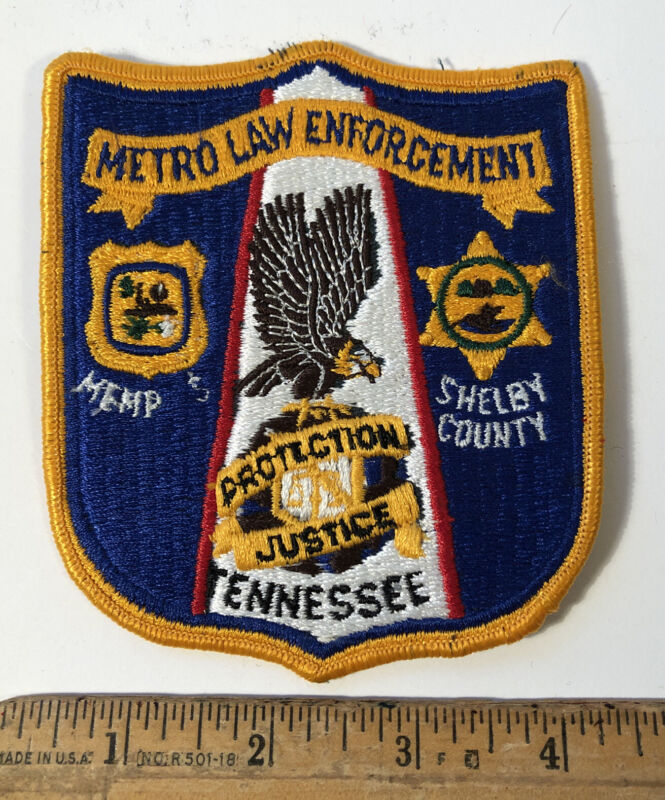 Vintage Metro Law Enforcement Officer Patch Police Department Memphis TN As Is