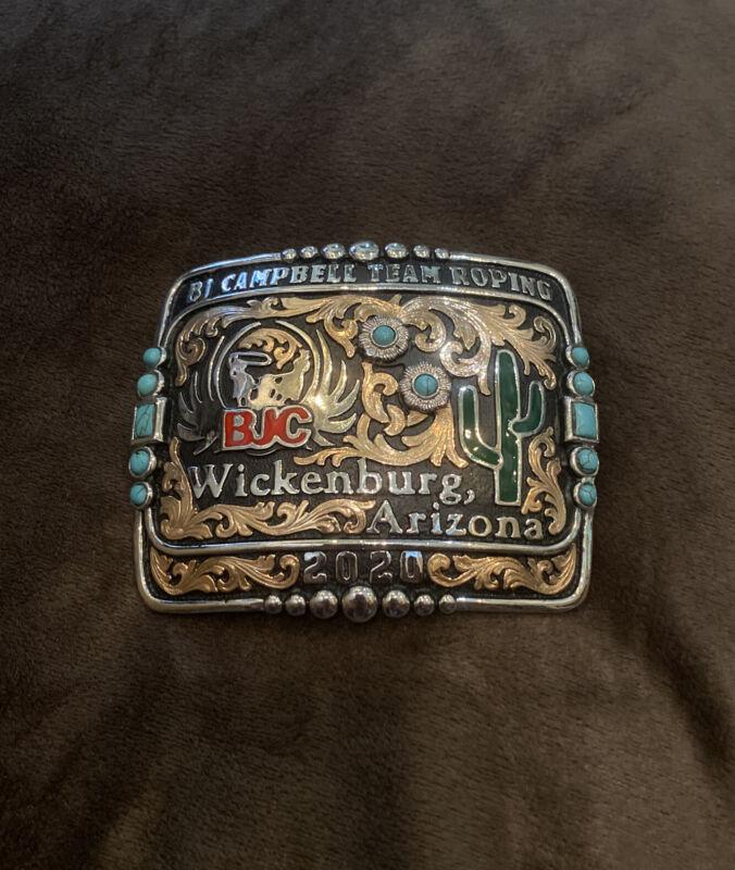 Trophy Rodeo Champion Belt Buckle Team Roping Roper Header Heeler