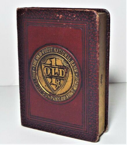 ANTIQUE OLD 1ST NATIONAL SAVINGS BOOK BANK FORT WAYNE INDIANA