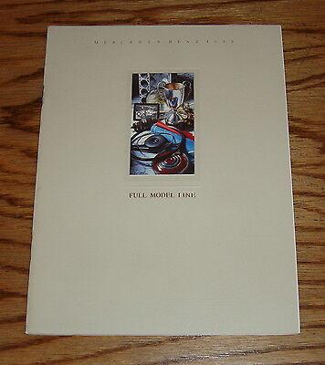 Original 1988 Mercedes-Benz Full Line Sales Brochure 88 S-Class 190 300